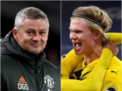 Ole Gunnar Solskjaer has been quizzed about Erling Haaland (PA)