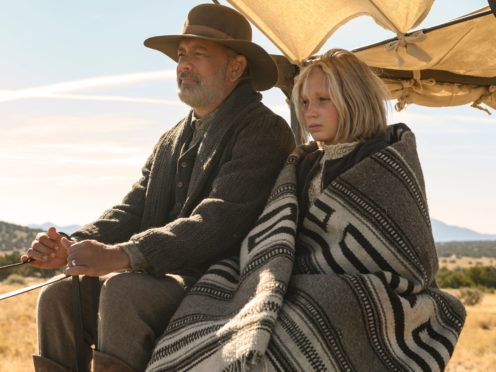 Tom Hanks and Helena Zengel in News Of The World (Bruce W Talamon/Universal Pictures/Netflix/PA)