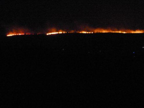 The fire has illuminated the night sky (Rowena Millar)
