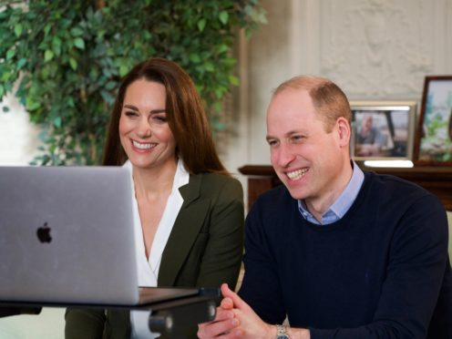 The Duke and Duchess of Cambridge have held a video call with two clinically vulnerable women who have been shielding since last March (Kensington Palace)