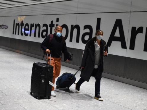 All travellers arriving in Scotland from overseas will be required to spend 10 days in a quarantine hotel from Monday (Kirsty O'Connor/PA)
