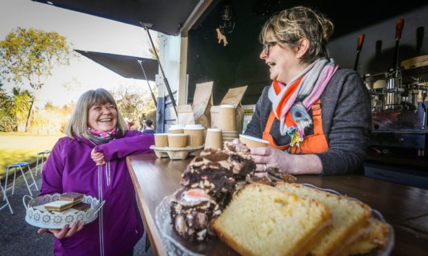 Foodie friends of 35 years join forces to charm Angus townsfolk with their tasty coffee and cake offering