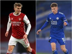 Martin Odegaard and Harvey Barnes featured in today's papers (Adam Davy/Michael Regan/PA)