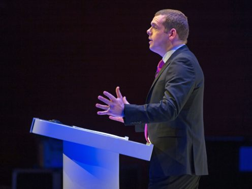 Douglas Ross will outline plans for a 'Retrain to Rebuild' allowance (Colin D Fisher/Scottish Conservatives/PA)