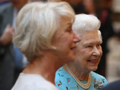 The Queen meets Dame Helen Mirren (Dominic Lipinski/PA)