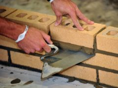 A bricklayer (Ian Nicholson/PA)