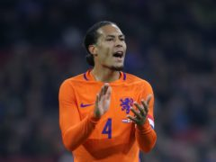 Holland manager Frank De Boer will not put any pressure on Virgil Van Dijk to declare himself fit for Euro 2020 (Nick Potts/PA)