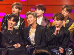 K-pop superstars BTS have condemned anti-Asian racism following a spike in violence across the US (Tom Haines/PA)