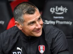Richie Barker liked what he saw from Rotherham at Bristol City (Anthony Devlin/PA)