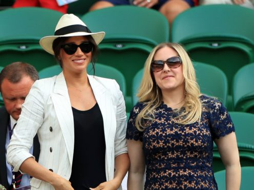 Duchess of Sussex at Wimbledon with her friend Lindsay Roth (PA)