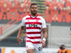 Hamilton striker Marios Ogkmpoe is sidelined with a hamstring injury (Jeff Holmes/PA)