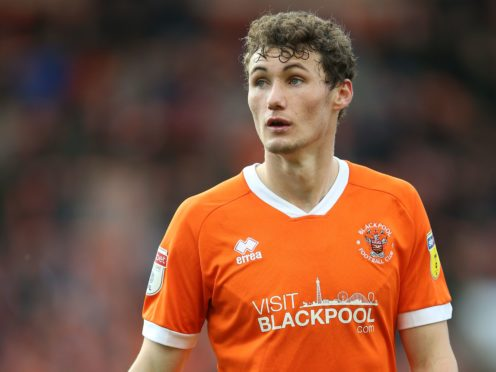 Matty Virtue is set to miss Blackpool's game against Peterborough (Nigel French/PA)