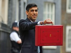 Chancellor Rishi Sunak outside 11 Downing Street (PA)