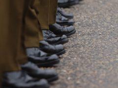 Soldiers on parade (Stefan Rousseau/PA)