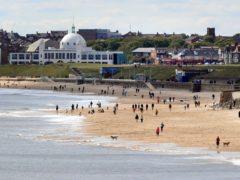 Whitley Bay beach in May 2020 (Owen Humphreys/PA)