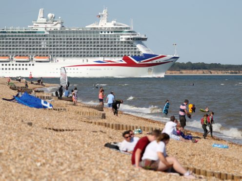 P&O Cruises said thousands of people have booked staycations on its cruises this summer (Andrew Matthews/PA)