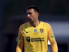Steve Arnold could return in goal for Northampton (Mike Egerton/PA)