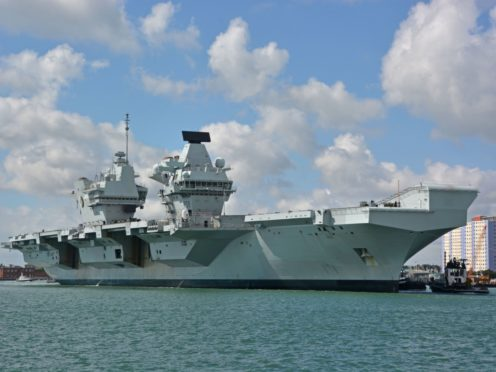 The Royal Navy aircraft carrier HMS Queen Elizabeth (Ben Mitchell/PA)