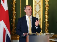 Foreign Secretary Dominic Raab said most countries were trading with China as he defended the UK's changing foreign policy direction (Peter Summers/PA)