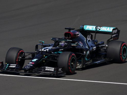 Lewis Hamilton spun into the gravel as Mercedes continued to struggle (Will Oliver/PA)