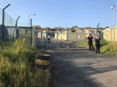 The migrant camp in the coastal village of Penally, near Tenby (PA)