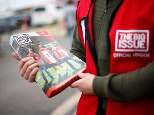 The Big Issue is helping to launch a jobs and training helpline (Paul Harding/PA)