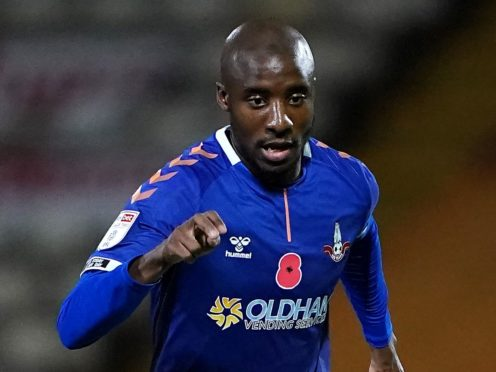 Dylan Bahamboula is unavailable for Oldham (Zac Goodwin/PA)