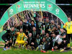 Manchester City won the Carabao Cup in 2020 (Mike Egerton/PA)