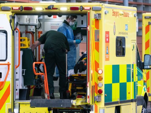 Ambulance staff reported that their metal health had worsened during the pandemic (Dominic Lipinski/PA)