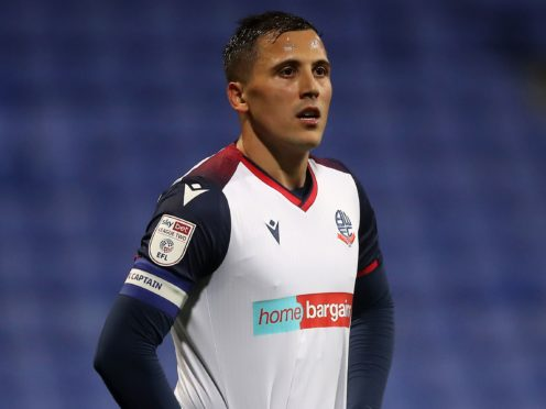 Bolton captain Antoni Sarcevic is facing a spell out of action (Martin Rickett/PA)