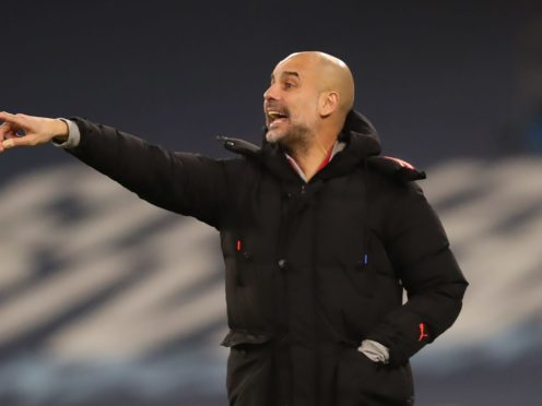 Manchester City boss Pep Guardiola is preparing to take on Manchester United this weekend (Clive Brunskill/PA)