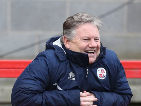 Crawley manager John Yems saw his team edge out Mansfield (Andrew Matthews/PA)