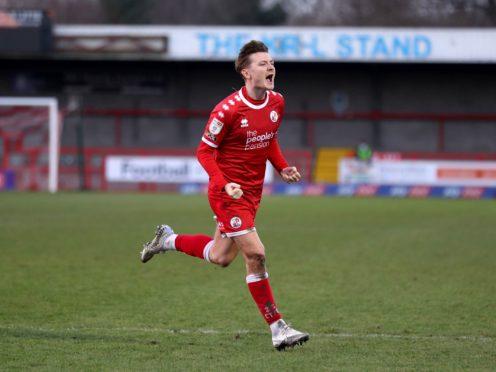James Tilley was Crawley's matchwinner against Mansfield (Andrew Matthews/PA)