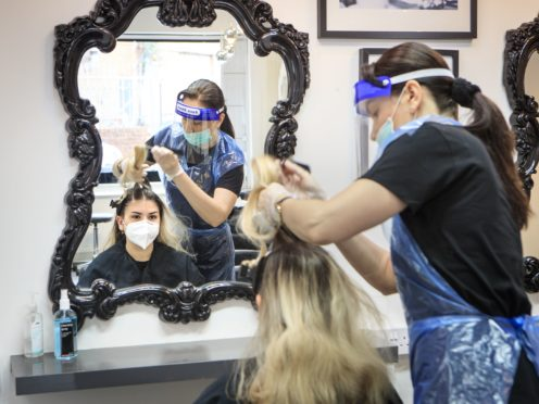 Hairdressers are allowed to reopen (Danny Lawson/PA)
