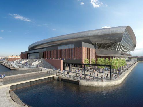 An artist's impression of Everton's Bramley-Moore Dock Stadium (Everton handout)