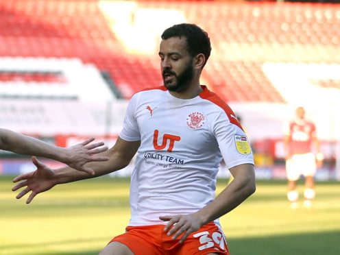 Kevin Stewart is doubtful for Blackpool's meeting with Burton (Steven Paston/PA)