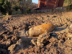 The unexploded Second World War bomb was found in Exeter (Ministry of Defence/PA)