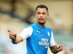 Jonson Clarke-Harris salvaged a draw for Peterborough with a dramatic last-gasp equaliser (Nigel French/PA)