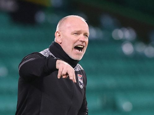 Ross County manager John Hughes saw his side beaten by Hibernian (Jeff Holmes/PA).