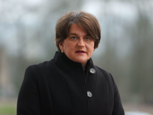 Arlene Foster said the MHRA has been very clear that it is safe to take the AstraZeneca vaccine (Liam McBurney/PA)
