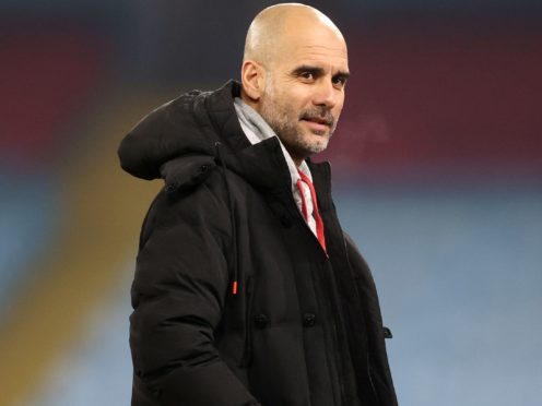 Pep Guardiola saw his side make it 21 wins on the spin (Carl Recine/PA)