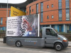 Digital ad board outside the Salford Royal Hospital, Manchester, by the Royal College of Nursing in response to the Government's NHS pay proposal (Peter Byrne/PA)