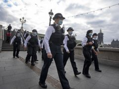 More than 30 female police officers and other members of staff patrol along the South Bank (Victoria Jones/PA)