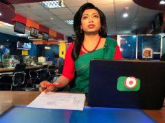 Bangladesh's first transgender news anchor Tashnuva Anan Shishir (Al-emrun Garjon/AP)