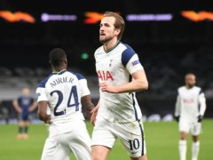 Harry Kane scored twice as Spurs beat Dinamo Zagreb (Neil Hall/PA)