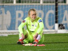 Hannah Hampton during the defeat to Everton (Nick Potts/PA)