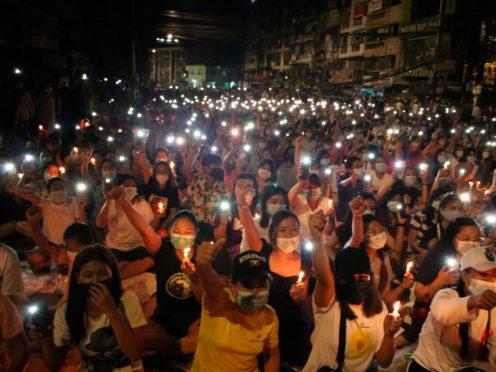 Protests in Myanmar (AP)