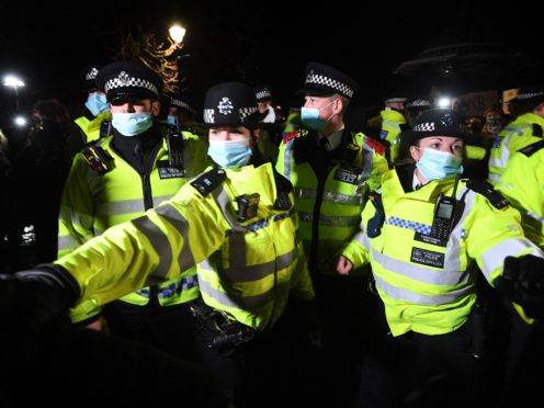 Dame Cressida Dick has defended police officers for their handling of the Everard vigil on Clapham Common (Victoria Jones/PA)
