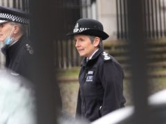 Metropolitan Police Commissioner Dame Cressida Dick arrives at New Scotland Yard in London (Yui Mok/PA)