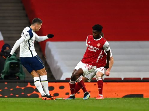 Erik Lamela's fine opening goal was not enough for Tottenham as they went on to lose to rivals Arsenal (Dan Mullan/PA)